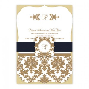 Harlow Monogram Wedding Invitations