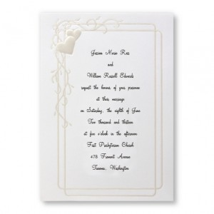 Heartfelt Frame Wedding Invitations
