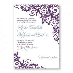 Henna Unique Wedding Invitations