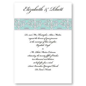 Imperial Wedding Aqua Invitations