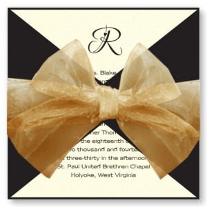 Initially Yours Black Wrap Wedding Invitations