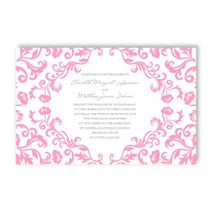 Inspiration Floral Letterpress Wedding Invitations