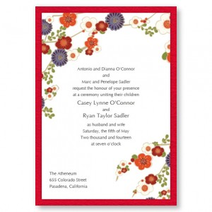 Irresistible Florals Wedding Invitations