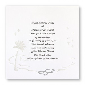 Island Romance Beach Wedding Invitations