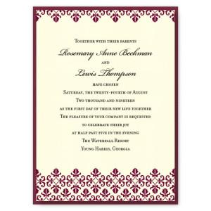 Jocelyn 2-Layer Classic Wedding Invitations