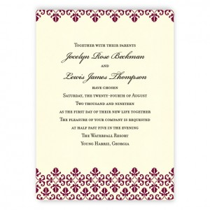 Jocelyn Thermography Wedding Invitations