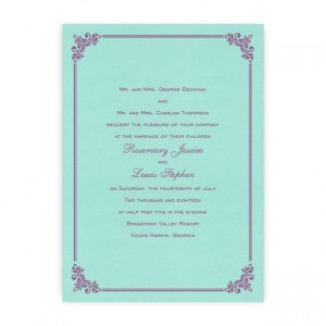 Kirsten Thermography Wedding Invitations