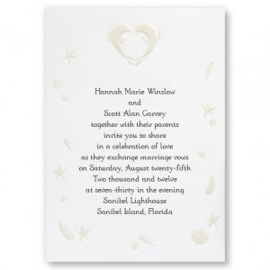 Kissing Dolphins Beach Wedding Invitations