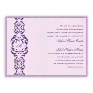 Lacey 2-Layer Monogram Wedding Invitations
