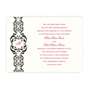 Lacey Monogram Wedding Invitations