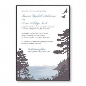 Lakeside 2-Layer Nature Wedding Invitations
