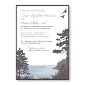 Lakeside 2 Layer Nature Wedding Invitations