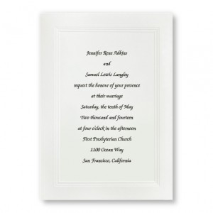 Large Social Graces White Wedding Invitations
