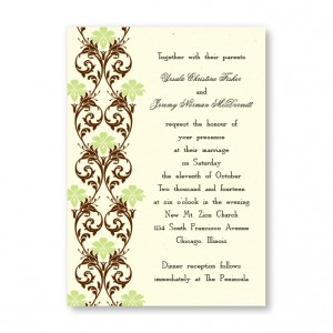 Lavish Border Wedding Invitations