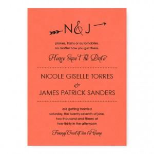 Layla Thermography Save the Date Cards