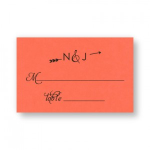 Layla Thermography Seating Cards