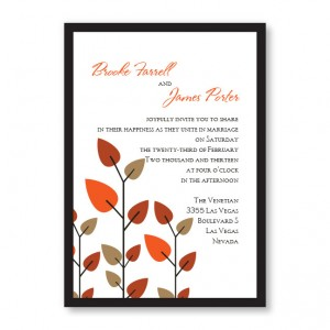 Leaves of Love Fall Wedding Invitations