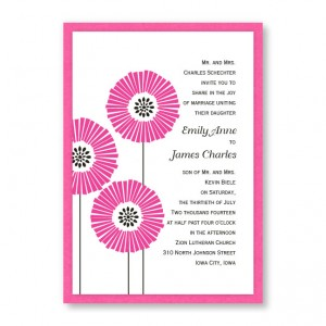 Love Blossoms Flower Wedding Invitations