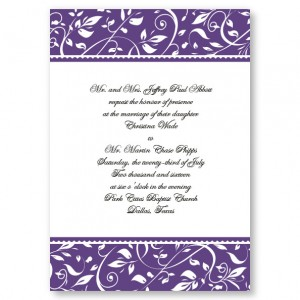 Love Intertwined Floral Vine Wedding Invitations