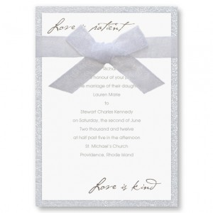 Love Is Patient Classic Wedding Invitations