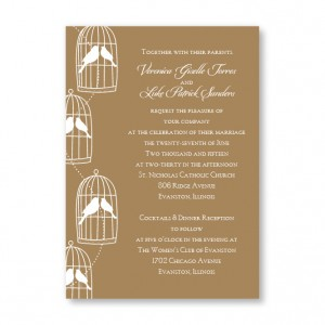 Loving Birds Wedding Invitations