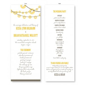 Luster Wedding Program