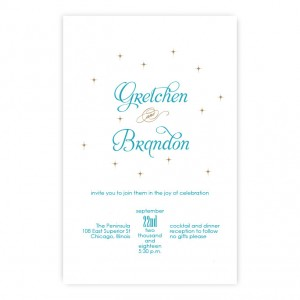 Macy Vintage Letterpress Wedding Invitations