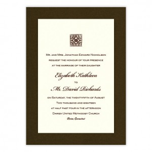Madison 2-Layer Thermography Wedding Invitations