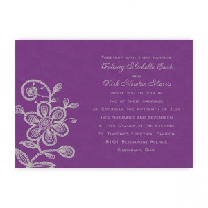 Marie Floral Wedding Invitations
