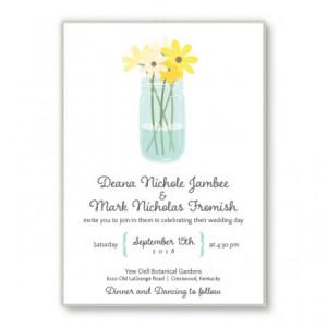 Mason Jar 2-Layer Floral Wedding Invitations