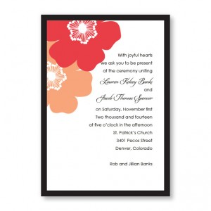Matchless Beauty Floral Wedding Invitations