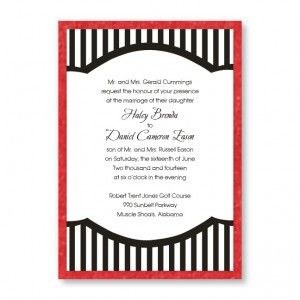 Mayfair Stripes Wedding Invitations