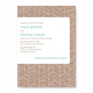 Modern Feather Nature Wedding Invitations