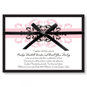 Modern Romance Pink Wedding Invitations