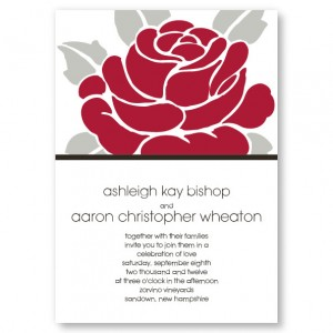 Modern Rose Blossom Wedding Invitations