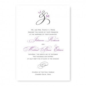 Monogram Classic Wedding Invitations