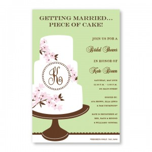 Monogram Cake Invitations