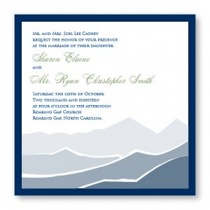 Mountain Square 2-Layer Nature Wedding Invitations