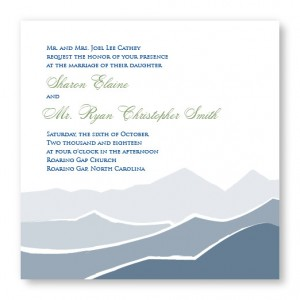 Mountain Square Nature Wedding Invitations