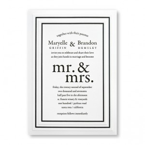 Mr. & Mrs. Classic Wedding Invitations