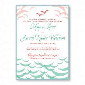 Ocean 2-Layer Beach Wedding Invitations