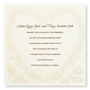 Ocean Treasures Ecru Wedding Invitations
