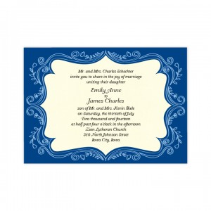 Ornamental Border Wedding Invitations