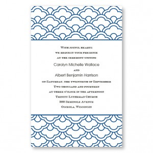 Ornamental Expression Letterpress Wedding Invitations