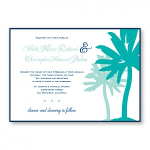Palm 2-Layer Beach Wedding Invitations