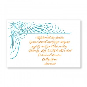 Paradise Wedding Letterpress Invitations