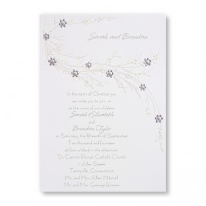 Passionate about Diamonds Wedding Invitations