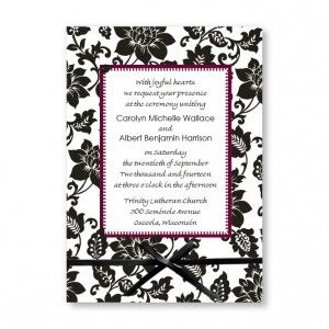 Passionate Blooms Floral Wedding Invitations