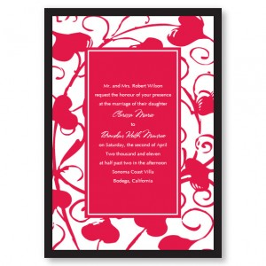 Passionate Hearts Red Wedding Invitations