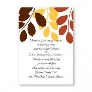 Passionate Leaves Autumn Wedding Invitations